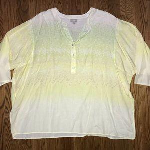 J. Jill Short Sleeve Blouse Plus Size 1X